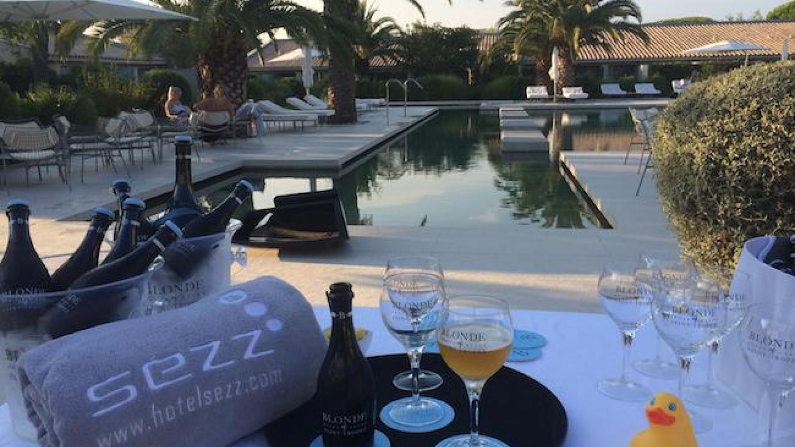 Eyes sparkle with joy at Dom Perignon Bar of the Sezz Saint-Tropez